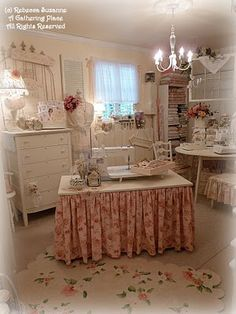 My Dream Craft Room!!!A photo of the creative work space of Rebecca Suzanne of A Gathering Place: