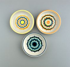 Hornsea Muramic. Three vintage pin dishes. Small by AnEyeOnStyle