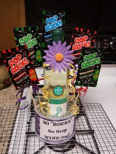 """30th birthday gift! 30 """"ROCKS"""" so stop WINE-ing!! I knew my sister would like it!"""