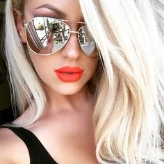 Big SEXY Large Mirror Metal Aviator Fashion viVieNNe Design Sunglasses Glasses L