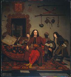 Portret van Thomas Hees (1634-1692) met zijn bediende Thomas