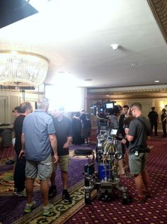 """CBS film shoot @ The Roosevelt for the show """"Unforgettable."""""""