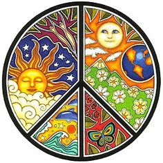 I have a thing for suns because I grew up watching CBS Sunday Morning which always uses a sun as their logo. This combination of suns and peace sign speaks to me!