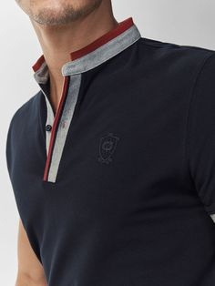 Autumn Spring summer 2017 Men´s POLO SHIRT WITH STRIPED PLACKET AND CUFFS at Massimo Dutti for 49.5. Effortless elegance!