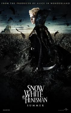 SNOW WHITE AND THE HUNTSMAN  Yes to adult fairy tales!!! love Charlize Theron as Raven/the evil queen.