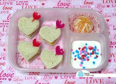 BentoLunch.net - What's for lunch at our house: Valentine's Bento Lunch with Dollar Store Accessories
