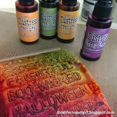 Fall Pumpkin Card - Distress Spray Stains