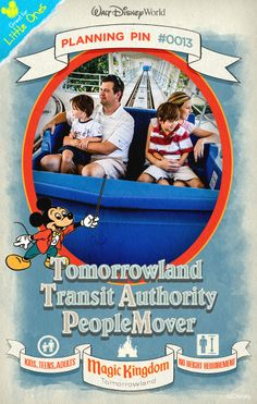 Walt Disney World Plannings Pins: Embark on a 10-minute tour of Tomorrowland aboard this emission-free mass transit system of the future.