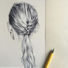 Drawing hair braid, how to draw braids, woman illustration, pencil illustra Pencil Drawings For Beginners, Pencil Drawings Of Love, Art Drawings, How To Draw Braids, How To Draw Hair, Drawing Hair Braid, Girl Face Drawing, Woman Illustration, Flat Illustration