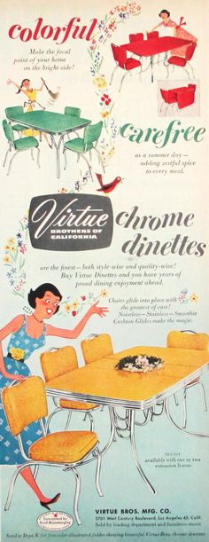 1950's Virtue Bros dinettes