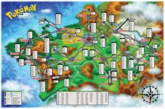 36 best pokemon map images on Pinterest   Maps  Omega and Cards Here is a map I made with the location and info for all catchable Pokemon in