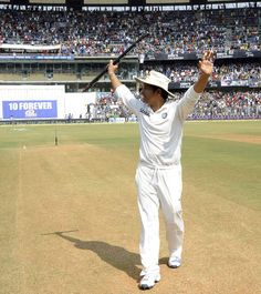 Sachin Tendulkar bids farewell on his retirement. #ThankYouSachin #SRT200