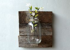 How to Make a Rustic Vase Using Mason Jars -- via wikiHow.com