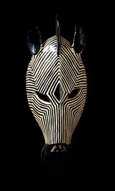 "14.5/"" Tribal-Style Giraffe And Zebra Animal Wall Masks"