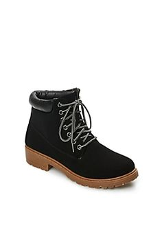 Black Color Bomb Hiking Boot