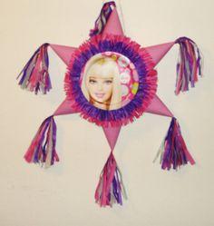 Barbie Pinata. Star shaped Pinata  #Handmade #BirthdayChild