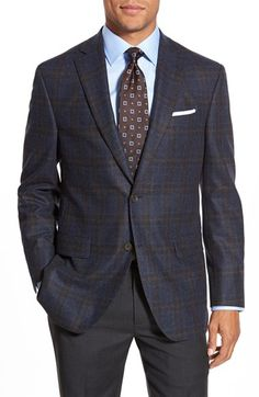 David Donahue 'Conner' Classic Fit Plaid Wool & Cashmere Sport Coat available at #Nordstrom