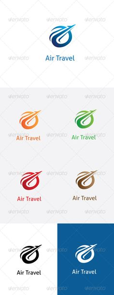 Air Travel Logo Template. — Vector EPS #marketing #vector • Available here → https://graphicriver.net/item/air-travel-logo-template/5852182?ref=pxcr