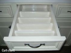 Awesome kitchen drawer organizers (tutorial)