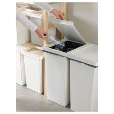 IKEA - FILUR, Tároló+tető, 10 l, , A lekerekített sarkoknak köszönhetően könnyen tisztítható.
