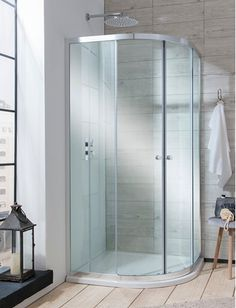 Product details for Edge Quadrant Double Door Shower Enclosure (Width x Depth: 800 x with SKU Space Saving Bathroom, Loft Bathroom, Quadrant Shower Enclosures, Power Shower, Bath Screens, Victorian Bathroom, Shower Screen, Glass Shower, Shower Doors