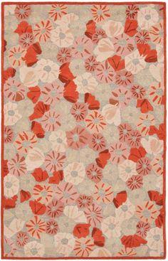 Rug MSR3625B-Poppy Field - Safavieh Rugs - Martha Stewart Rugs - Wool Rugs - Area Rugs - Runner Rugs