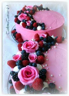 Cake Recipes, Dessert Recipes, Elegant Cakes, Love Cake, Creative Cakes, Confectionery, Cakes And More, Let Them Eat Cake, Beautiful Cakes