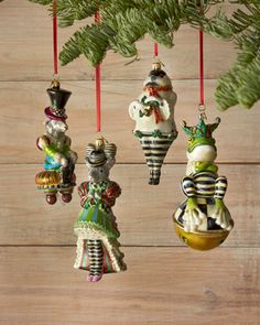 Festoonery Santa Christmas Ornament by MacKenzie-Childs at Horchow ...