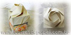 Rose Box - Shin Han Gyo´s - Papel Rosas Aquareladas
