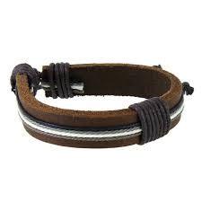 Resultado de imagem para pulseiras masculinas em couro