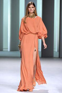 Elie Saab Spring 2011 Ready-to-Wear Fashion Show Look Fashion, High Fashion, Fashion Beauty, Fashion Show, Fashion Design, Couture Fashion, Runway Fashion, Womens Fashion, Paris Fashion
