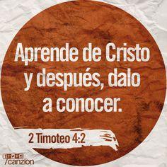 «Predica la palabra de Dios. Mantente preparado, sea o no el tiempo oportuno. Corrige, reprende y anima a tu gente con paciencia y buena enseñanza». —2 Timoteo 4:2