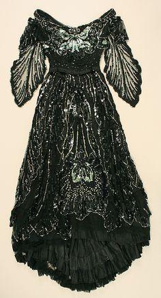 Black Jet-Beaded Dress, 1908.