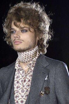 Flamboyant Male Rockstar Fashion