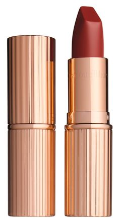 Complete the fall beauty look with this sultry, wine-hue Charlotte Tilbury matte lipstick.