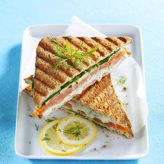 Découvrez la recette Croque-monsieur au saumon et au Boursin sur cuisineactuelle.fr.