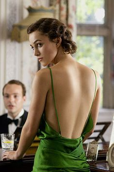 Keira Knightley in Atonement (back of the dress)