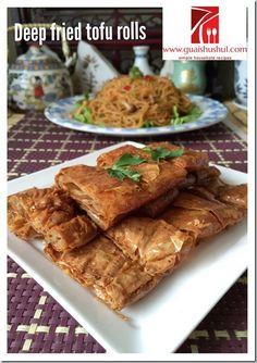 Classic Vegetarian Recipes– Tofu Skin Rolls Recipe aka Vegetarian ...
