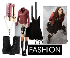 """""""Last Minute Scarlet Witch Cosplay"""" by widows-bite ❤ liked on Polyvore featuring Burberry, Quiksilver, STELLA McCARTNEY, Wolford, Naughty Monkey, Melanie Auld, Avengers, cosplay, scarletwitch and comiccon"""