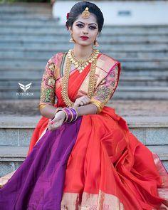 Team India Wedding, South India, Wedding Photos, Sari, Fashion, Marriage Pictures, Saree, Moda, Fashion Styles
