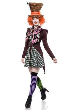Insane Hatter aus der Mask Paradise Kollektion : braun L Mad Hatter Cosplay, Women's Mad Hatter Costume, Mad Hatter Outfit, Mad Hatter Makeup, Mad Hatter Hats, Mad Hatters, Movie Halloween Costumes, Halloween Kostüm, Halloween Outfits