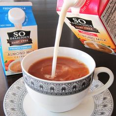 So Delicious Dairy Free Almond Milk Creamers - Vegan, Soy-Free, Gluten-Free, even Carrageenan-Free! We compare it to coconut milk creamer.