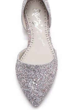 12 Wedding Shoes: Alice + Olivia Hillary d'Orsay Flats from Shopbop.
