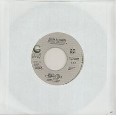"For Sale - John Lennon [Just Like] Starting Over USA  7"" vinyl single (7 inch record) - See this and 250,000 other rare & vintage vinyl records, singles, LPs & CDs at http://eil.com"