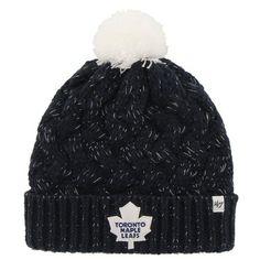 14eacaa11e2 Womens Toronto Maple Leafs  47 Brand Navy Blue Fiona Knit Beanie