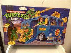 TMNT Teenage Mutant Ninja Turtles Channel 6 News Van SEALED Playmates 1992