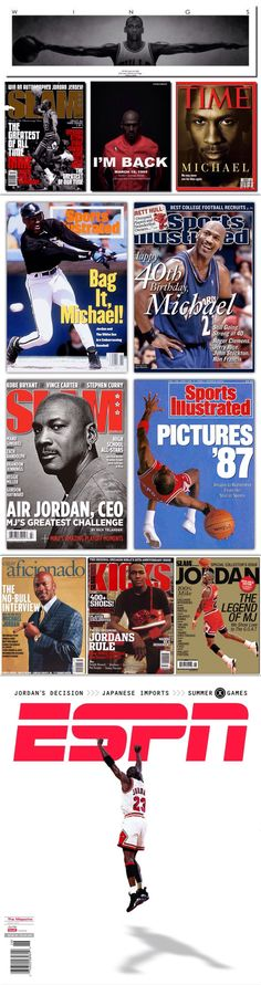 Michael Jordan Magazine Covers
