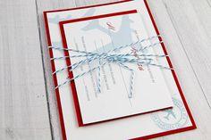 Travel Theme Wedding Invitation - Travel theme wedding - White, Red and Blue Wedding Invitation on Etsy