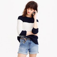 J.Crew+-+Lookout+high-rise+jean+short+in+camp+wash