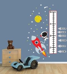 Inspiration for baby boy's space, astronaut themed nursery.